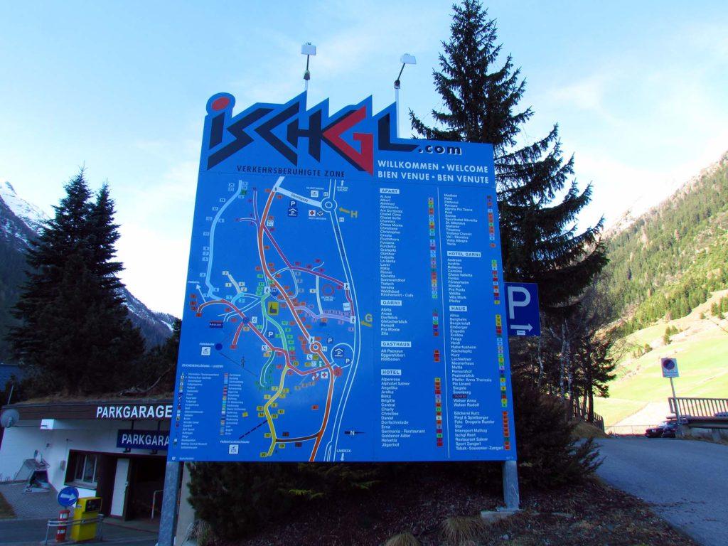 mapa Ischgl