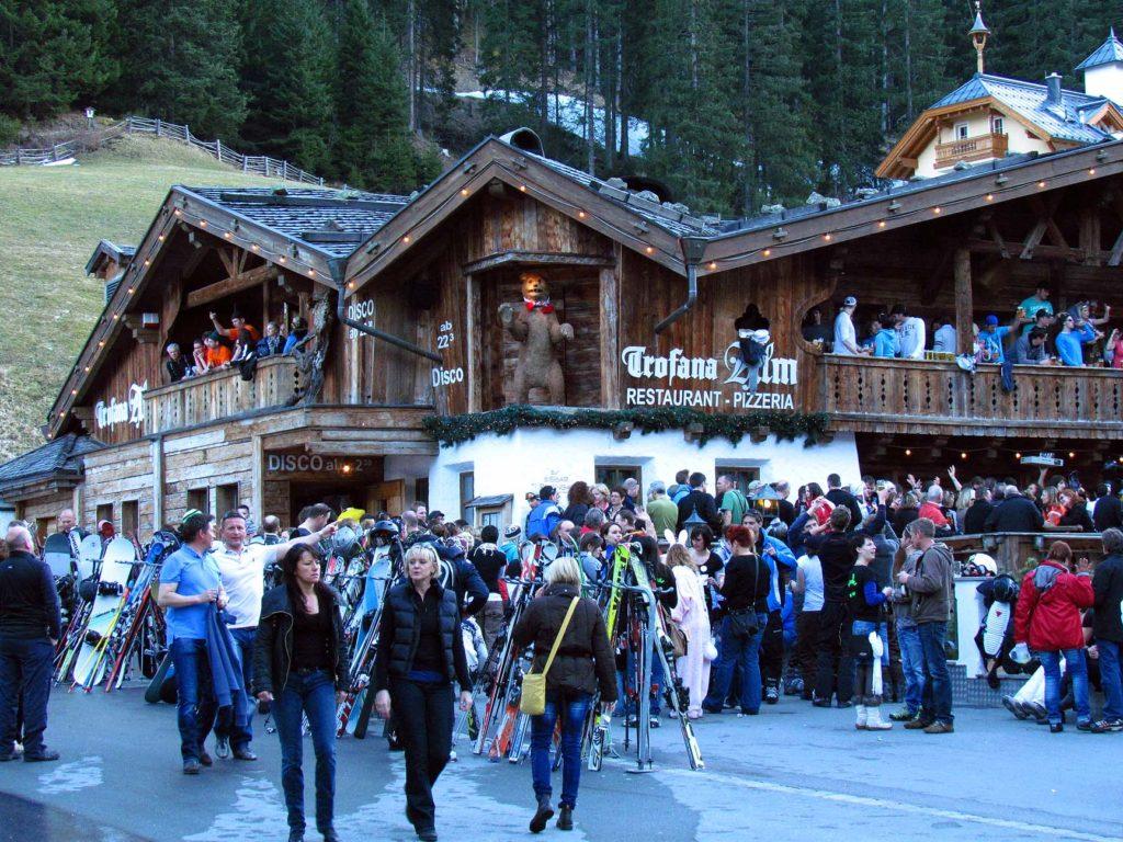 apres-ski Trofana Alm w Ischgl